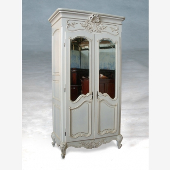 indonesia furniture Armoire French 2 Doors Mirror Front