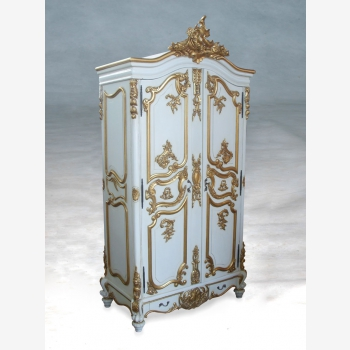 indonesia furniture Armoire French 2 Doors - White Gold