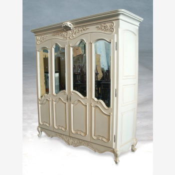 indonesia furniture Armoire French 4 Doors Flat Top
