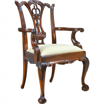 indonesia furniture Chippendale D Armchair