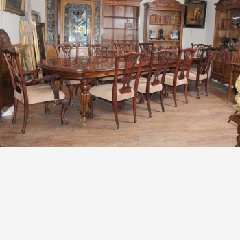 indonesia furniture Chippendale D Dining Set of 10