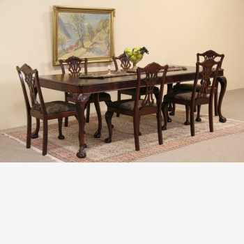 indonesia furniture Chippendale M Dining Set of 6