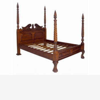 indonesia furniture Chippendale Poster Bed Queen Size