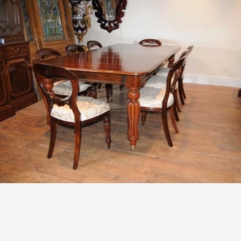 indonesia furniture Devon Dining Set of 8 fixed table