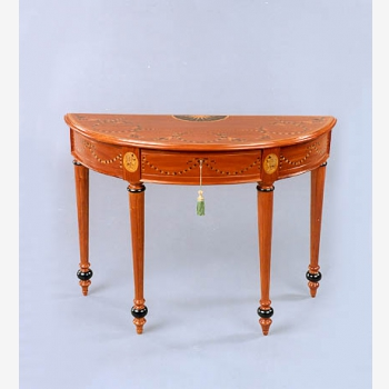 indonesia furniture Fluted Leg Console with Veneer