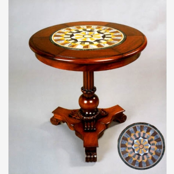 indonesia furniture Lumia Round Table with Mozaic 60
