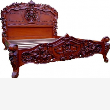 indonesia furniture Rococco Bed King Size