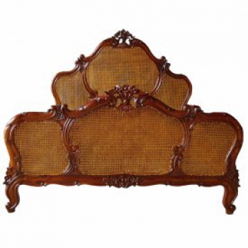 indonesia furniture Royal Rattan Bed Queen Size