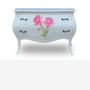 indonesia furniture Side Table 2 drawers 4