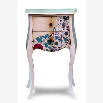 indonesia furniture Side Table 2 drawers 5