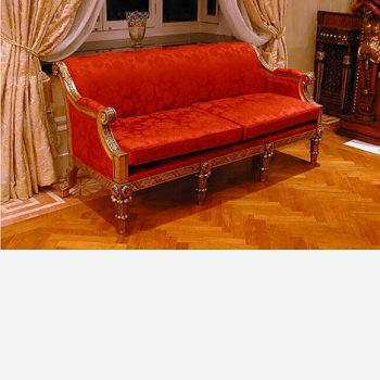 indonesia furniture Sienna french Sofa 3 Seater